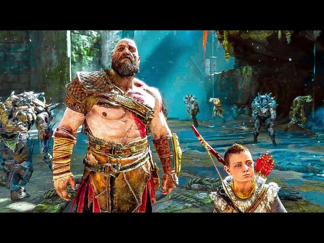 GOD OF WAR 4 NEW Gameplay Walkthrough Demo (No Commentary) PS4