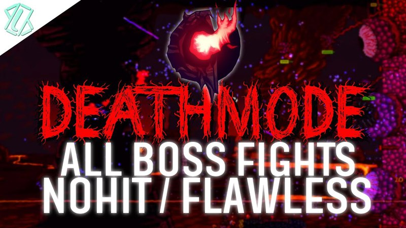 Terraria Calamity DEATHMODE - All Boss Fights NOHIT / FLAWLESS (Calamity 1.2.4.205, No damage taken)