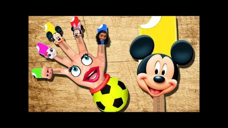 Mickey Mouse Minnie Boss Baby Moana Angela Finger Family Song Colors Learn | Nursery Rhyme Songs