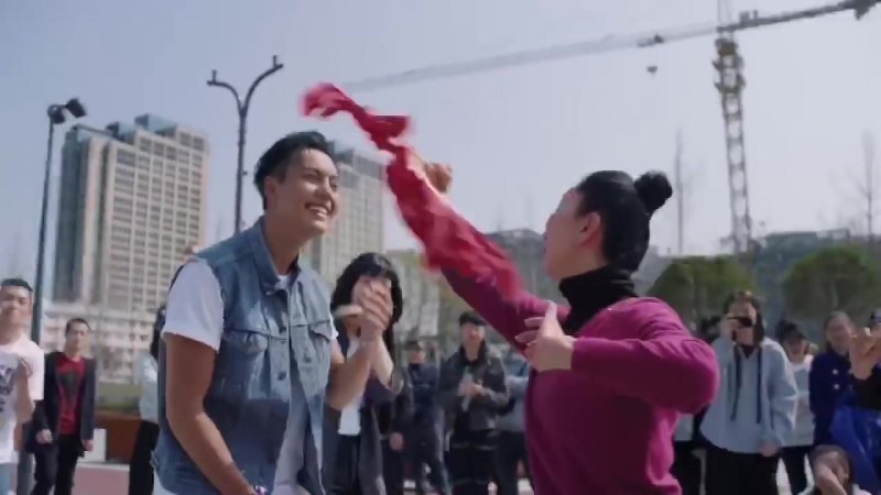 Levis commercial: William Chan leads the team The Hot Blood Dance Company the street battle 20180323 [High Definition HD] W