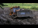 Сибирские дороги. Гусеничный ледокол трактор Т-130. Сотка.