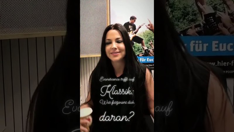 Evanescence's Amy Lee at Antenne 1 Radio (Small Interview 22/03/2018)