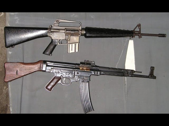 Сравнение: АК 47 против StG 44 и М-16 (AR-10)