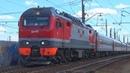 Электровоз ЭП2К-352 с пассажирским поездом №259 Анапа - Санкт Петербург
