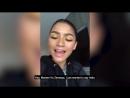 Зендая посылает видеосообщение поклоннице Марли, пережившей 22 хирургические операции по лечению редкого заболевания