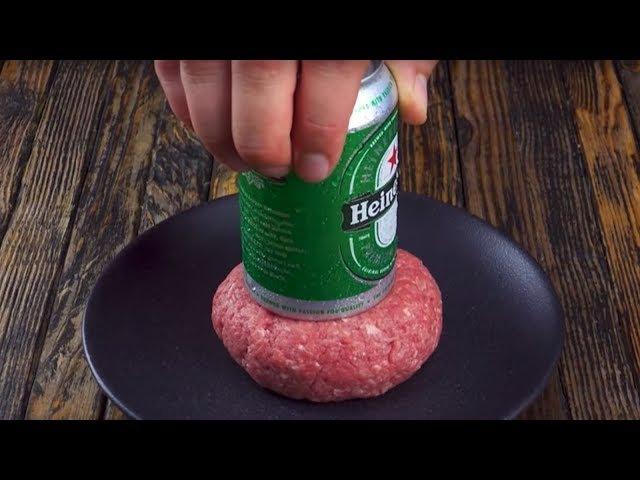 Если прижать к мясу банку пива, результат поразит всех!