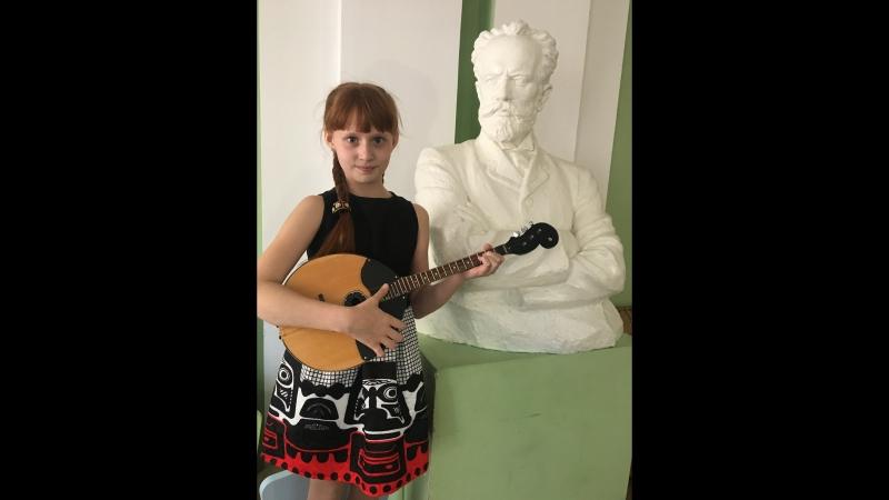 Воробьева Катя-Экзамен в музыкальной школе по классу домра.