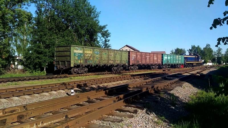 ТЭМ2-6840 производит маневры на станции Разъезд 2км. (ЛППЖТ)