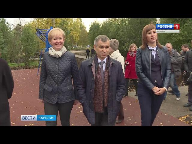 Нургалиев проинспектировал новые детские площадки в Петрозаводске