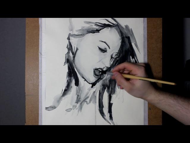 Anisyia watercolor sketch