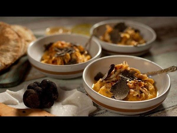 Truffle and crayfish fava - Turkish Cuisine