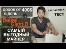 Доход 400$ в день Самый Выгодный Майнер Обзор Baikal Giant B