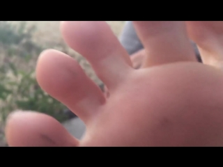 Close up POV Sweaty Feet Soles Toes Wiggling