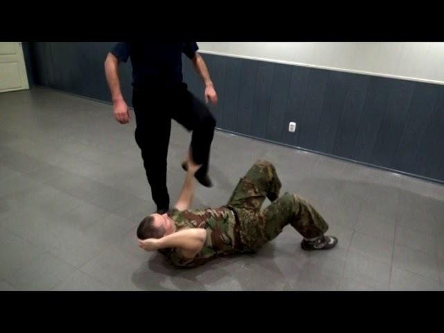 Прикладной рукопашный бой Защита от ударов ногами лёжа Принципы Обучение смотреть онлайн без регистрации