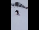 Первое катание на сноуборде