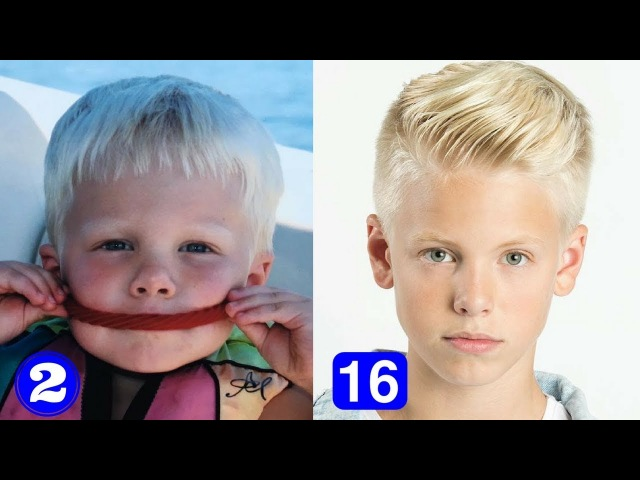 Carson Lueders - Transformation From 1 to 16 Years Old