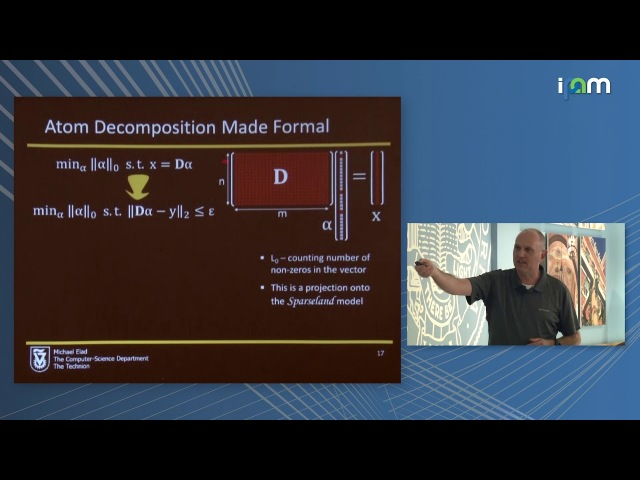Michael Elad: Sparse Modeling in Image Processing and Deep Learning