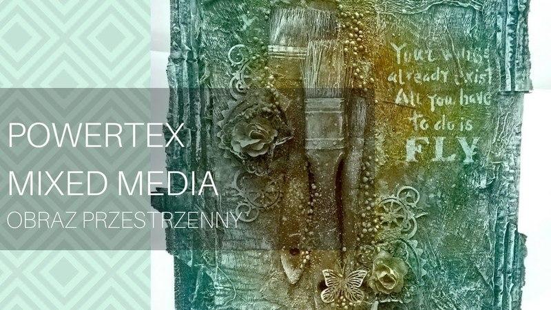 Obraz mixedmediowy na bazie powertex