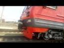 Электропоезд ЭД9М 0068 с сообщением Тракторная пасс Шпалопропитка Волгоградская область перегон Ельшанка Бекетовская