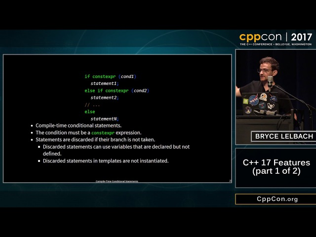 """CppCon 2017 Bryce Adelstein Lelbach C 17 Features part 1 of 2 """""""