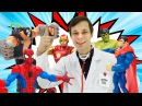 Мстители и ЧеловекПаук с Доктором Ой Все супергерои сборник Мультики и ИгрыД