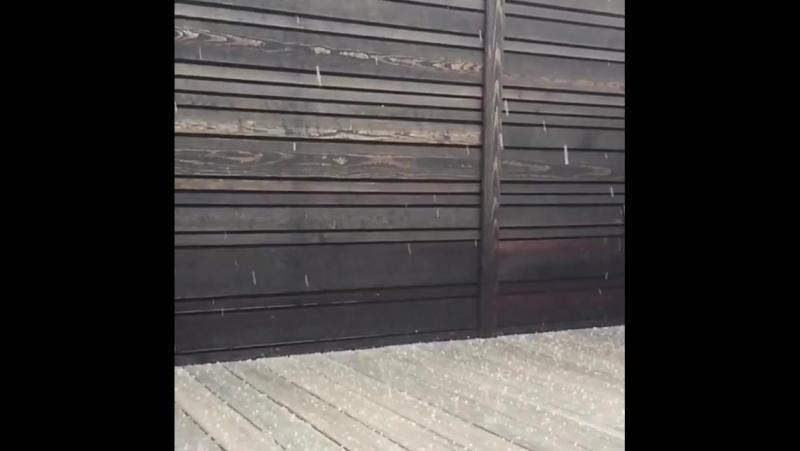 Вот такой вот град средь бела дня в Портланде por... Погода в городах России 03.10.2017