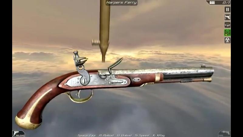 Harpers Ferry flintlock pistol