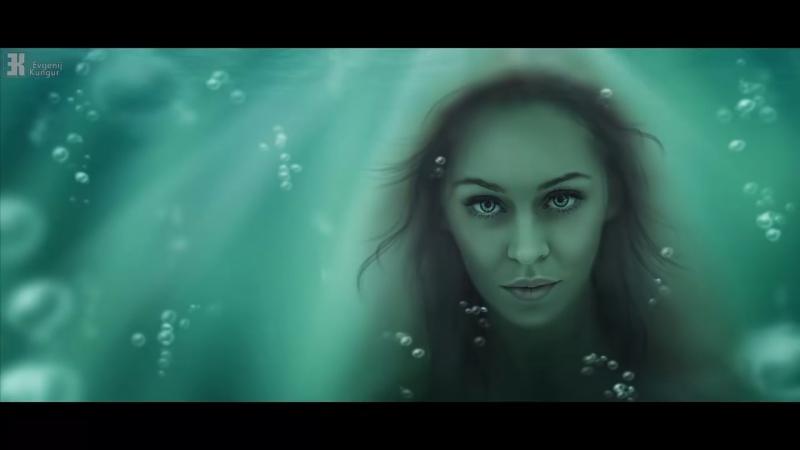 PS CS6 - Русалка под водой фотоколлаж