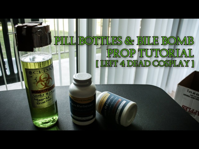Left 4 Dead Cosplay | Pill Bottles Bile Bomb Props Tutorial | I Am Crofty Cosplay