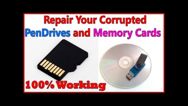 How To Repair Corrupted PenDrives || Memory Cards 100% Working