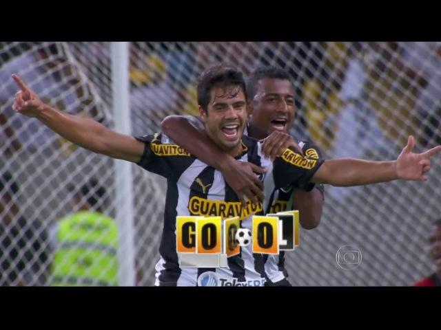Gols Botafogo 4 x 0 Deportivo Quito Libertadores 05 02 2014 Globo HD