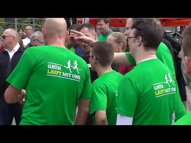 HALLIANZ für Vielfat-Spendenlauf , 22.9.2017, C.Özdemir, S.Striegel, SPD-Karamba-Team