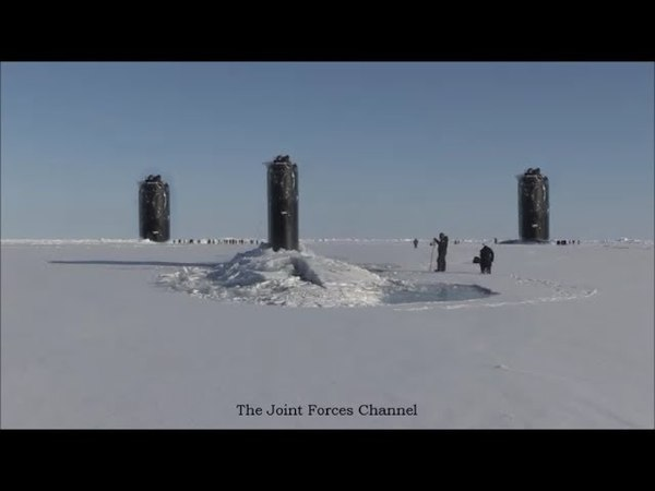 Very Rare Three Submarines Surfaced In The Arctic At Once For ICEX 2018