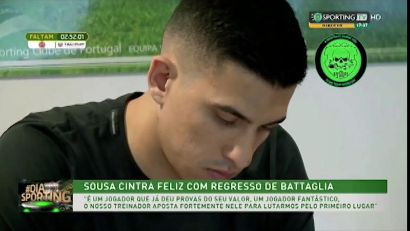 Rapaziada1906 Battaglia regressa ao Sporting CP 28 Julho 2018