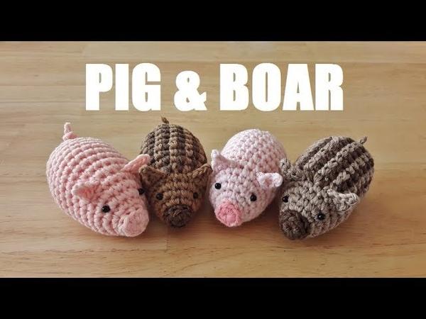 Amigurumi pig boar かぎ針編み あみぐるみ ブタ&イノシシ 2019年 十二支 코바늘 돼지 477