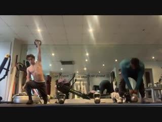 Тренировка Тома Холланда