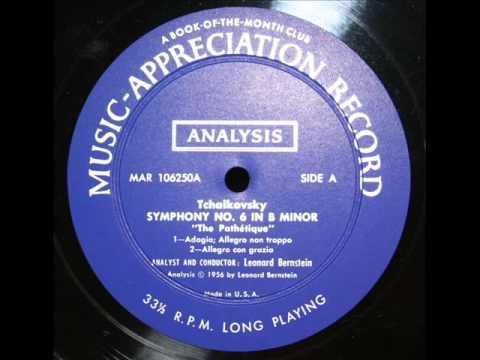 Tchaikovsky / Leonard Bernstein, 1956: An Analysis of Tchaikovsky's Pathetique Symphony, Op. 74