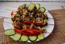 Домашние куриные шашлычки с кабачками